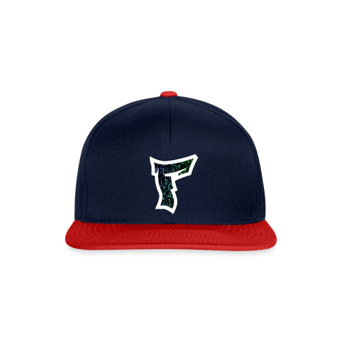 Rauch in Farben mit F Logo in Weiß - Snapback Cap