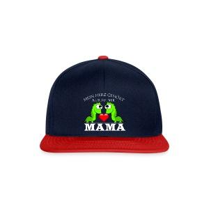 Dino herz mama - Snapback Cap