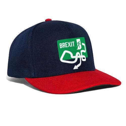 Brexit Exit Sign - Snapback Cap