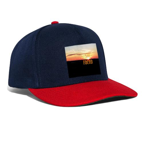 stay focused sunset - Snapback Cap