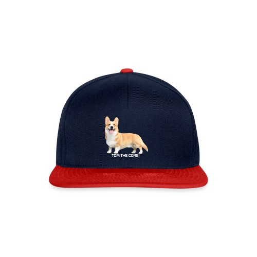 Topi the Corgi - White text - Snapback Cap