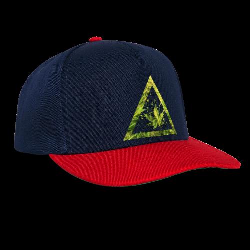 Marijuana Cannabisblatt Triangle with Splashes - Snapback Cap