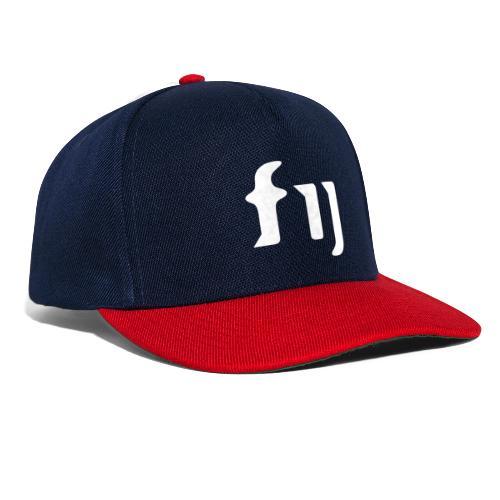 FIJ logo (vit) - Snapbackkeps