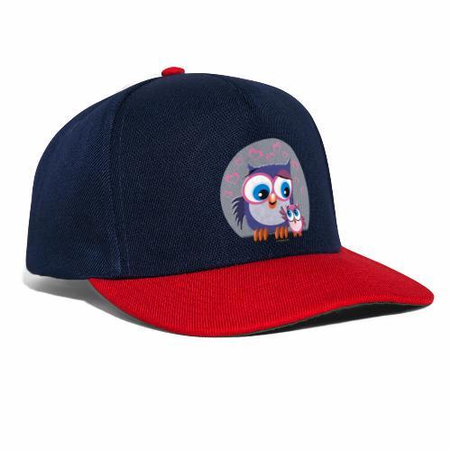10-31 OWLS LOVE - PÖLLÖT, Äiti ja lapsipöllö - Snapback Cap