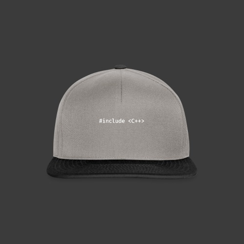 White Include Logo - Snapback Cap