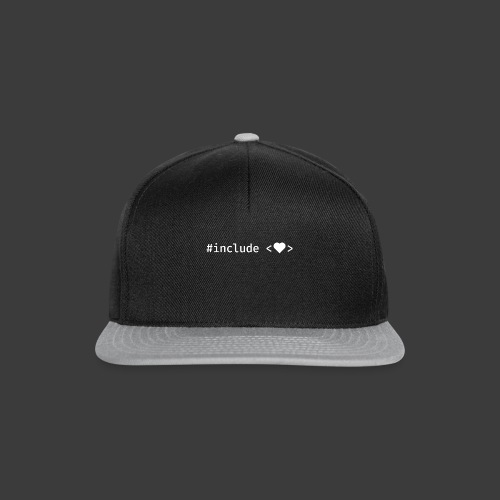 White Include Heart - Snapback Cap