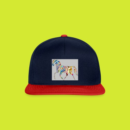 Psychedelic Animal Equine Art Horse Abstract 33226 - Snapback Cap
