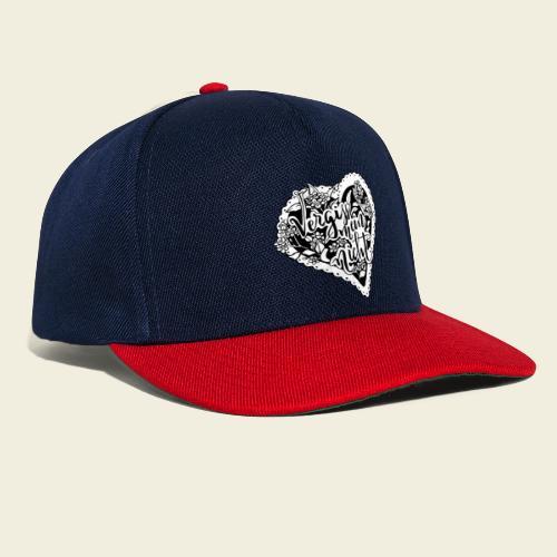 Vergissmeinnicht-Herz mit weißem Hintergrund - Snapback Cap