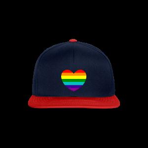 Hart in regenboog kleuren - Snapback cap