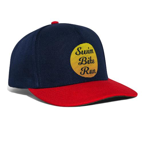 Swim Bike Run in the Sun - Snapback Cap