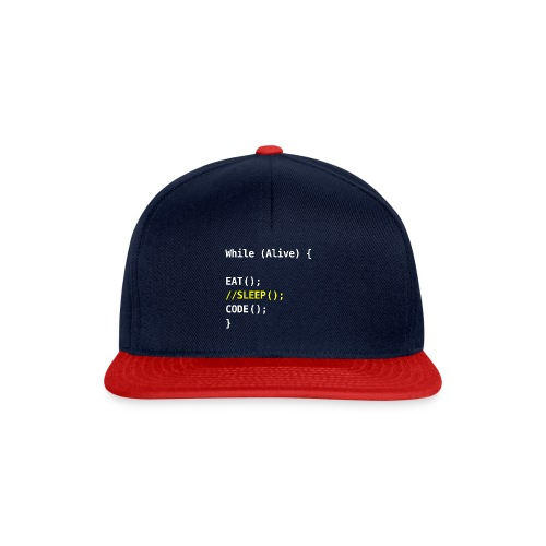 while alive - code - Snapback Cap