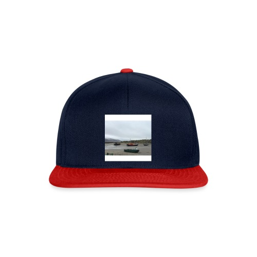 boats on barmouth beach - Snapback Cap