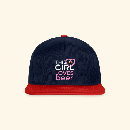 Ragazza birra - Snapback Cap