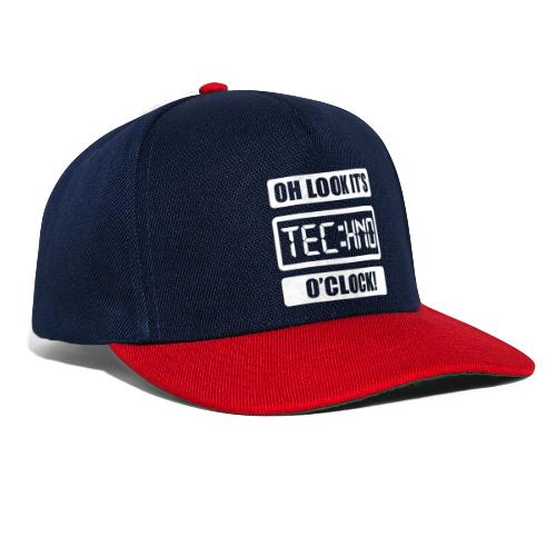 Rave Tshirt Technoclock - Snapback Cap