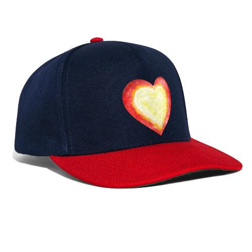 Burning Fire Heart - Snapback Cap