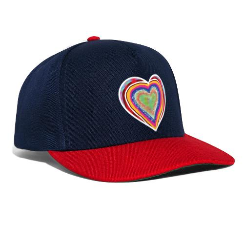 A heart in hearts is pure love on many levels - Snapback Cap