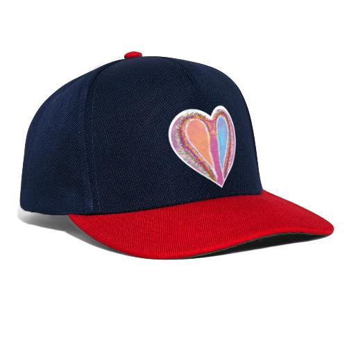 Hearts dont split, they get wings - Snapback Cap