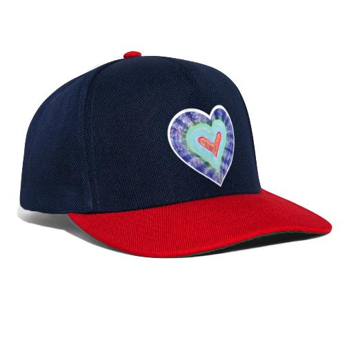 HeartSpread 18Little red heart in a green garden - Snapback Cap
