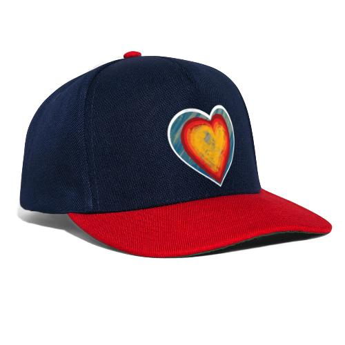 Warm lovely heart - Snapback Cap