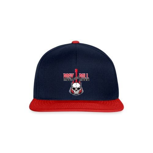20-09 Rock and Roll Skull, Cool textiles and gifts - Snapback Cap