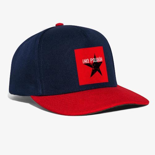 02 No Pasaran Stern Maske Mundschutz rot schwarz - Snapback Cap