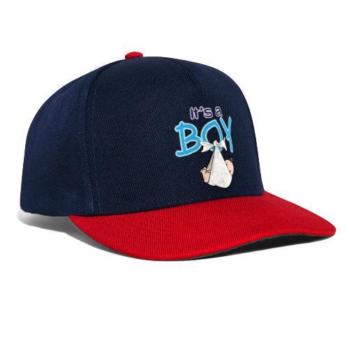 Babyshower Boy Blauw - Snapback cap