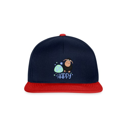Schwarzes Schaf - Be happy Schaf - Glücksbringer - Snapback Cap