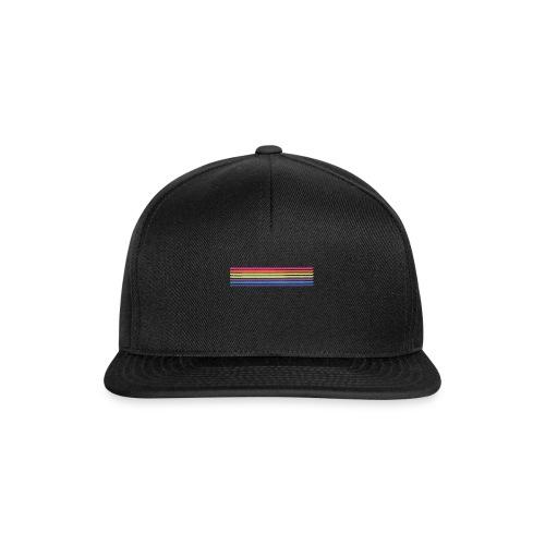 Kolorowe linie horyzontu - Czapka typu snapback