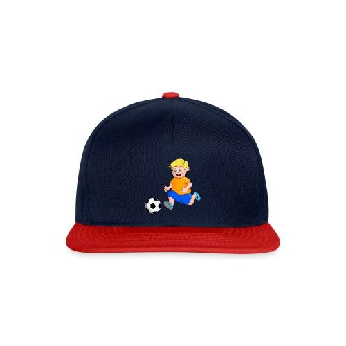 Junger Fußballer - Snapback Cap