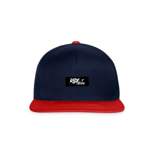 Schwarze Balken mit weißem Logo - Snapback Cap
