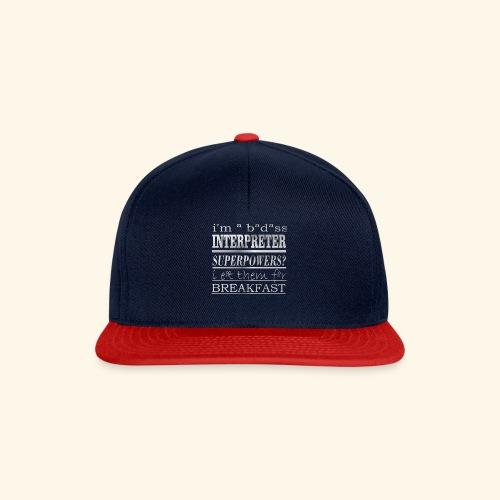 INTERPRETER - Snapback Cap