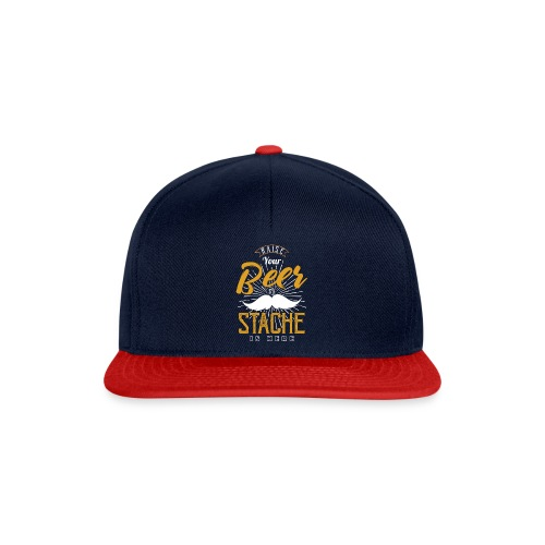 Raise Your Beer The Stache Is Here - Snapback Cap
