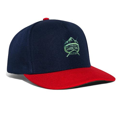 Nordic Skiing And Pizza People - Snapback Cap