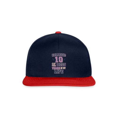Funny College Life 10 Best Years College Graduate - Snapback Cap