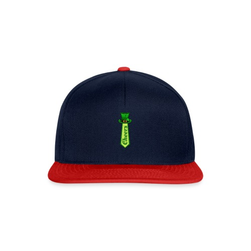 St Patricks Day Leprechaun Hat on Tie CHEERS - Snapback Cap