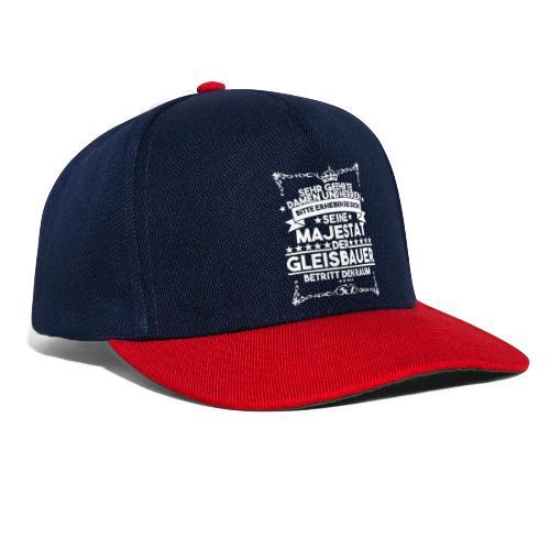 Gleisbauer König seine Majestät Schienenarbeiter - Snapback Cap