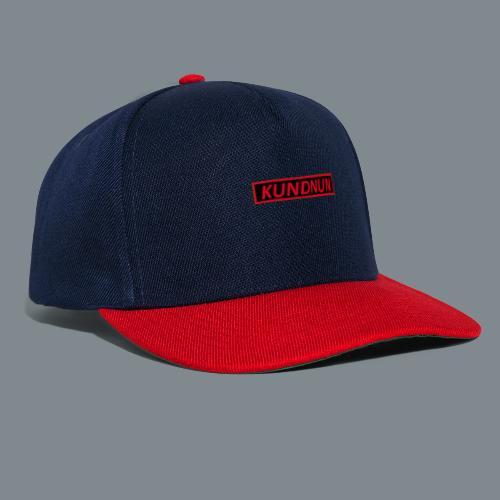 Kundnun zwart rood - Snapback cap