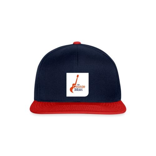de oranje man logo groot op wit vlak - Snapback cap