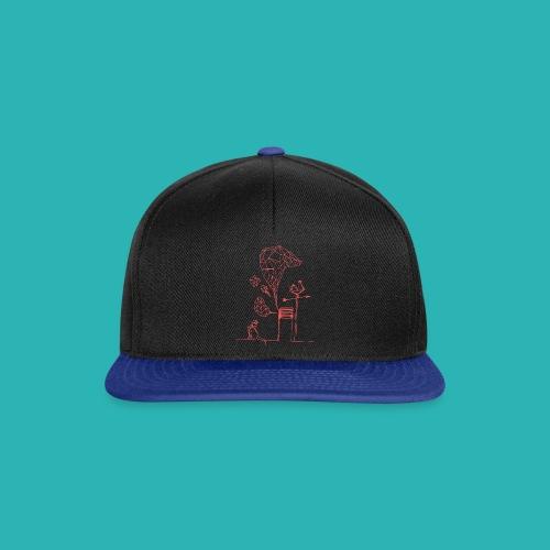 Carta_gatta_pink-png - Snapback Cap