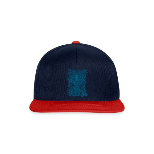 Snake-and-Water-in-Blue - Gorra Snapback
