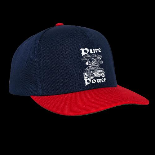 Pure Power V6 Weiß - Snapback Cap