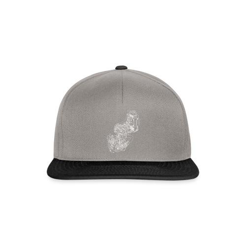 nx250 motorblok wit - Snapback cap