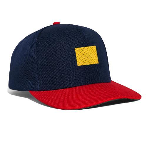 steel background yellow - Snapback-caps