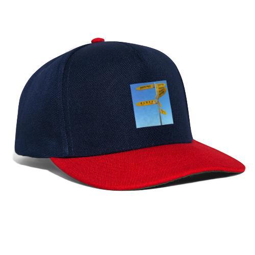 Wegweiser Cape Reinga Neuseeland Südpol Äquator - Snapback Cap
