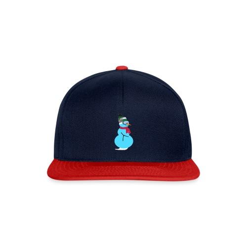 Snowboarding snowman - Snapback Cap