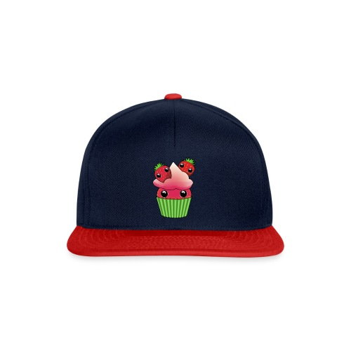 Cute strawberry kawaii cupcake - Snapback Cap