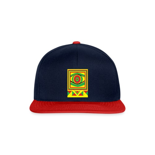 ALL seeing eye RASTA burn down babylon Original - Snapback cap