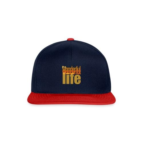 It's a wonderful life beach colours - Snapback Cap