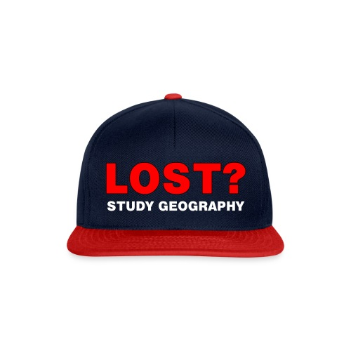 Lost? White Text - Snapback Cap