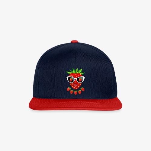 Süße Erdbeere Kussmund Sonnenbrille 23 - Snapback Cap